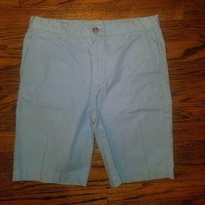 Boy's Vineyard Vines Light Blue Chino Shorts sz 14